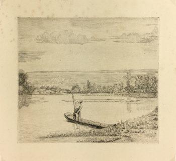 Engravings & Etchings Original Art - Aquatint - Boater, 1950