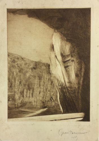 Engravings & Etchings Original Art - Penombre, Jean Becmeaur, 1923