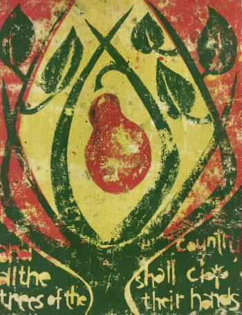 Engravings & Etchings Original Art - All the Trees, Serigraph, C.1965