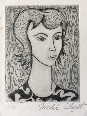 Engravings & Etchings Original Art - Portrait, Michel Clairet, C.1960