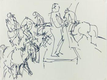 Animals Horses Original Art - Equestrian, Irmgard von Reppert, 1965