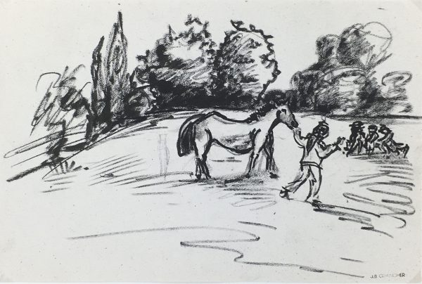 Animals Horses Original Art - Park, JB Grancher (1911-74), C.1950