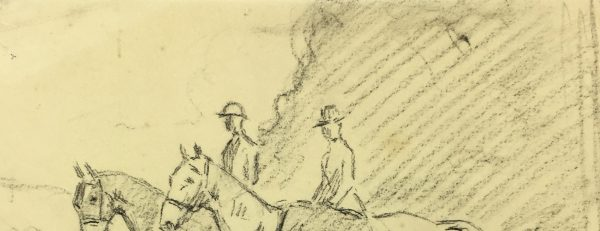 Animals Horses Original Art - Riders, A.Marchand, C.1905