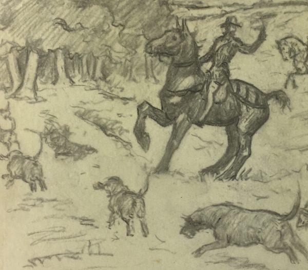 Animals Horses Original Art - Hunt, A. Marchand, C.1905