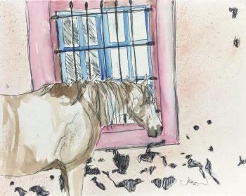 Animals Horses Original Art - Horse, Kismine Varner, C.1990