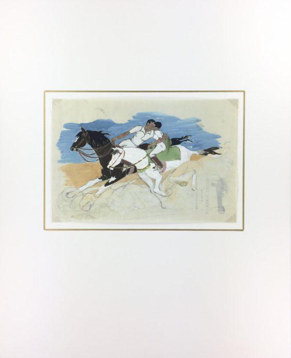 Animals Horses Original Art - Rider's Kiss, C.1930