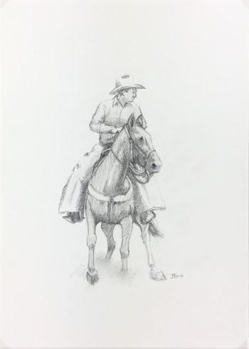 Animals Horses Original Art - Cowboy, Jim Ford, 2013