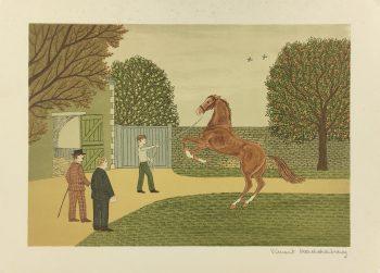Animals Horses Original Art - Dressage, V. Haddelsey (1929-10), C.1960