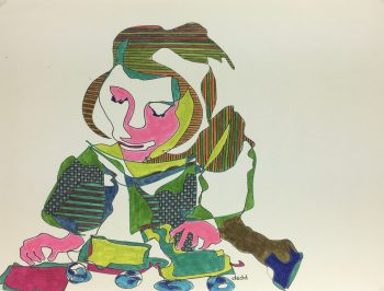 Abstract Modern Original Art - Portrait Abstractions, Dedd, 1988