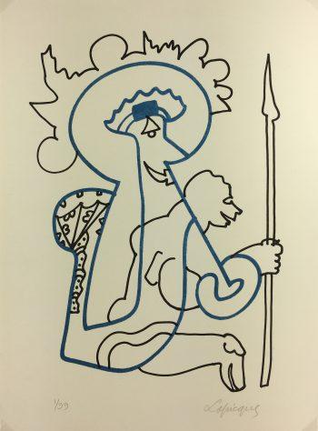 Abstract Modern Original Art - Le Croisé, Charles Lapicque, 1960