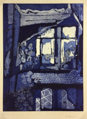 Abstract Modern Original Art - Cobalt House, Filliere, French, 1980s