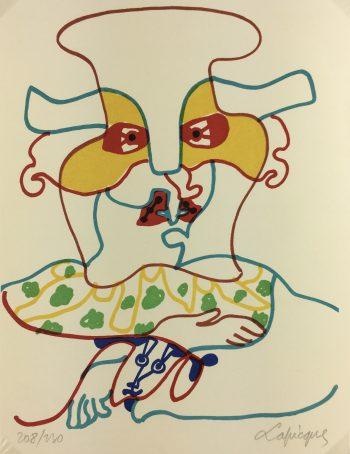 Abstract Modern Original Art - Le Verdict, C. Lapicque, 1971