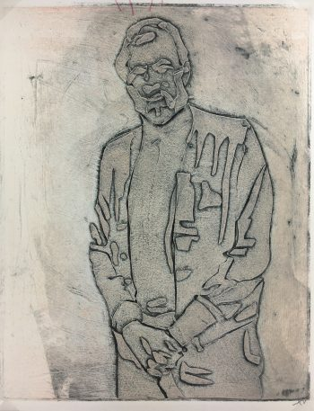 Abstract Modern Original Art - Man, Kismine Varner, c.1990