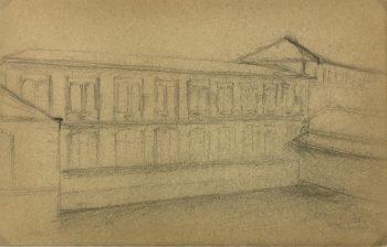 Sketches Original Art - Architectural, Germaine Barbier, C.1915