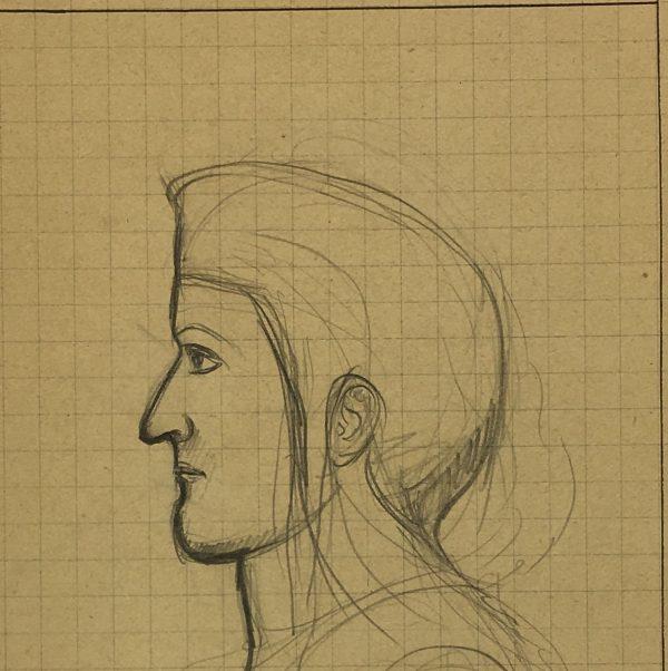 Sketches Original Art - Artist's Notes, Albert Vialé, 1938