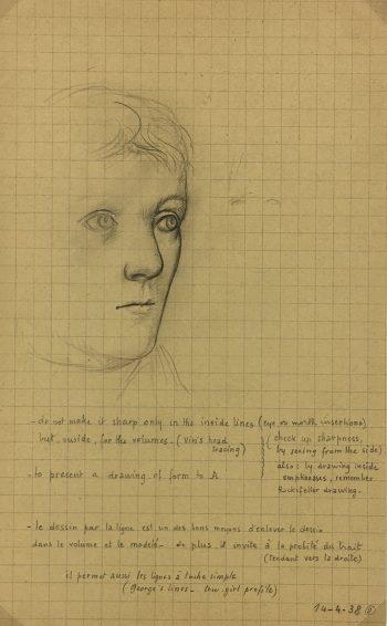 Sketches Original Art - Artist's Noes, Albert Vialé, 1938