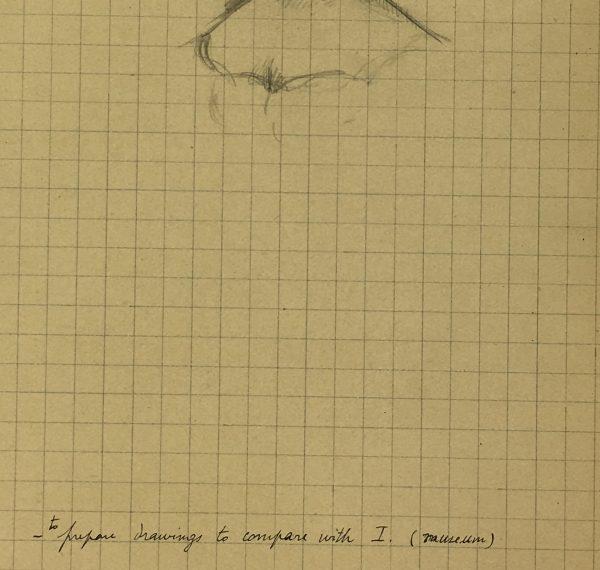 Sketches Original Art - Artist's Notes, Albert Vialé, 1937