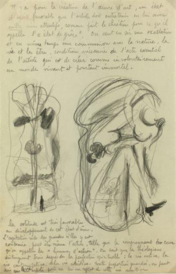 Sketches Original Art - Artist Notes, Albert Vialé, C.1930