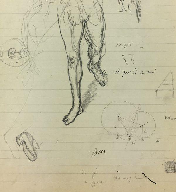 Sketches Original Art - Artist Notes, Albert Vialé, 1937