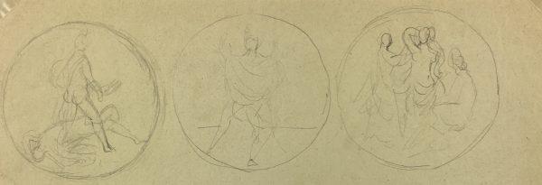 Sketches Original Art - Vignettes, Albert Vialé, 1939
