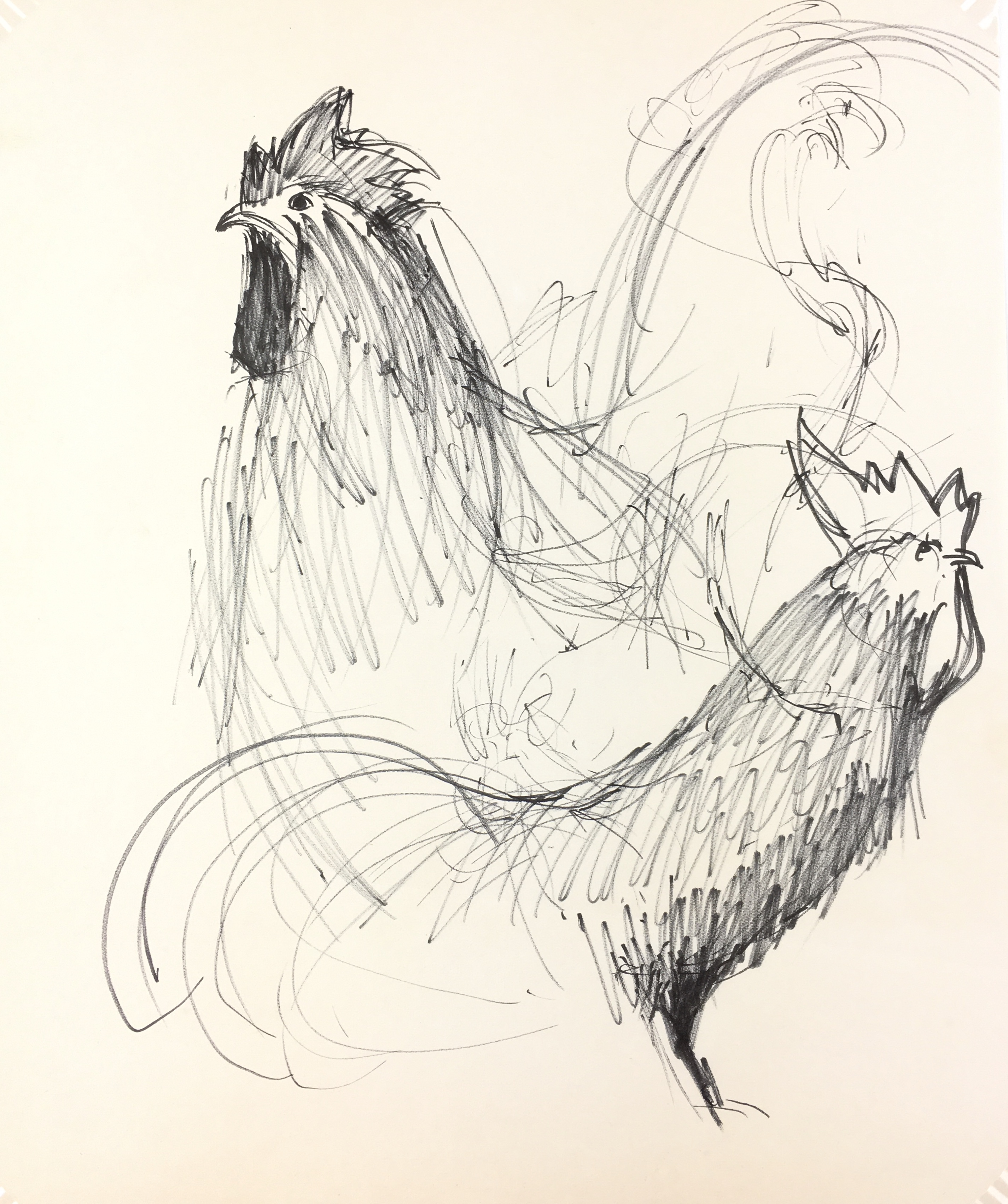 Animals Original Art - Rooster, Schwerb, C.1960