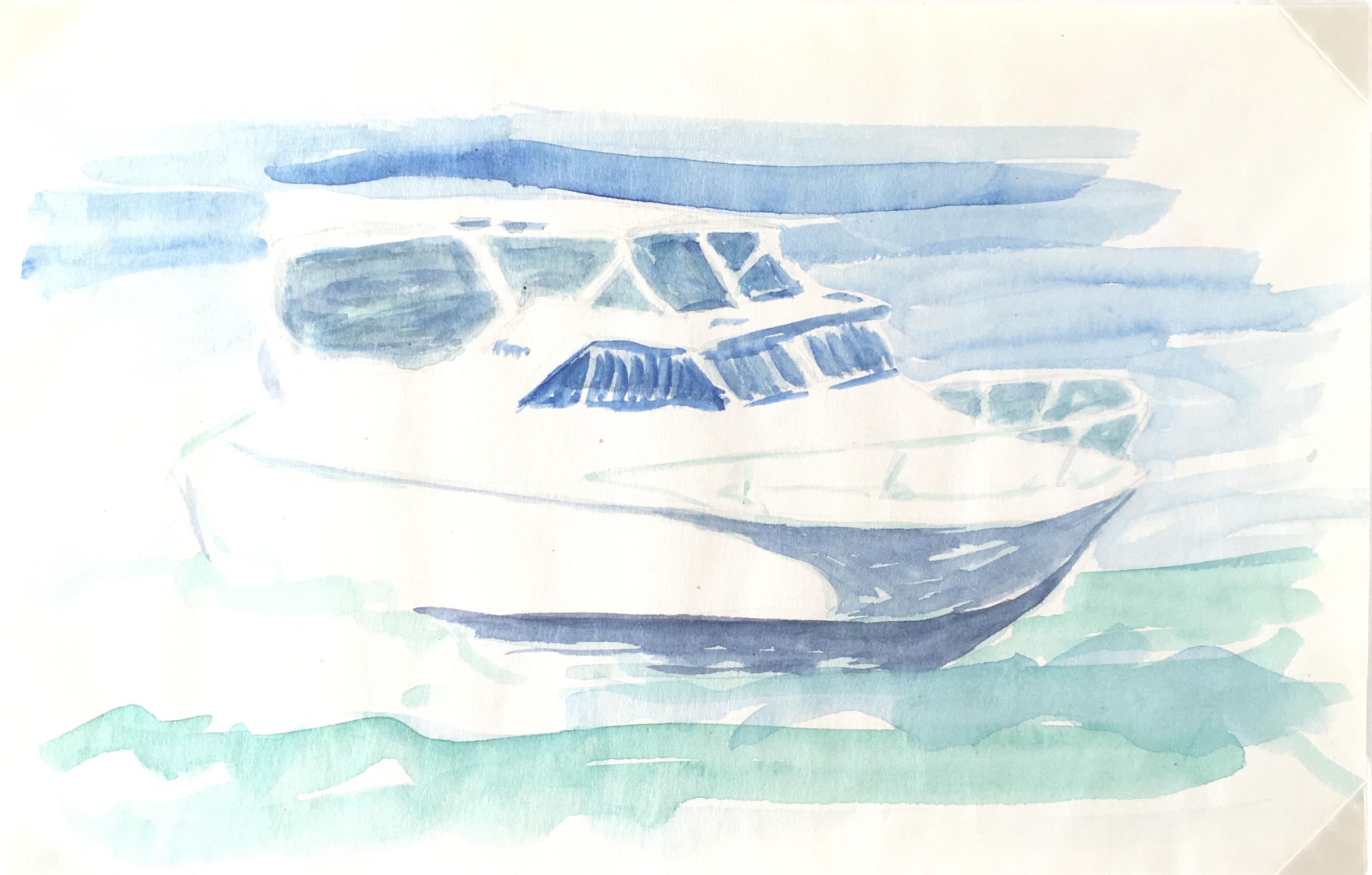 Beach Original Art - Maritime-Boat, c.1990