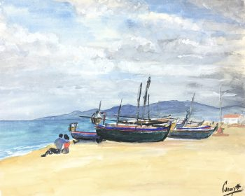 Beach Original Art - Beach, Coront, c.1950
