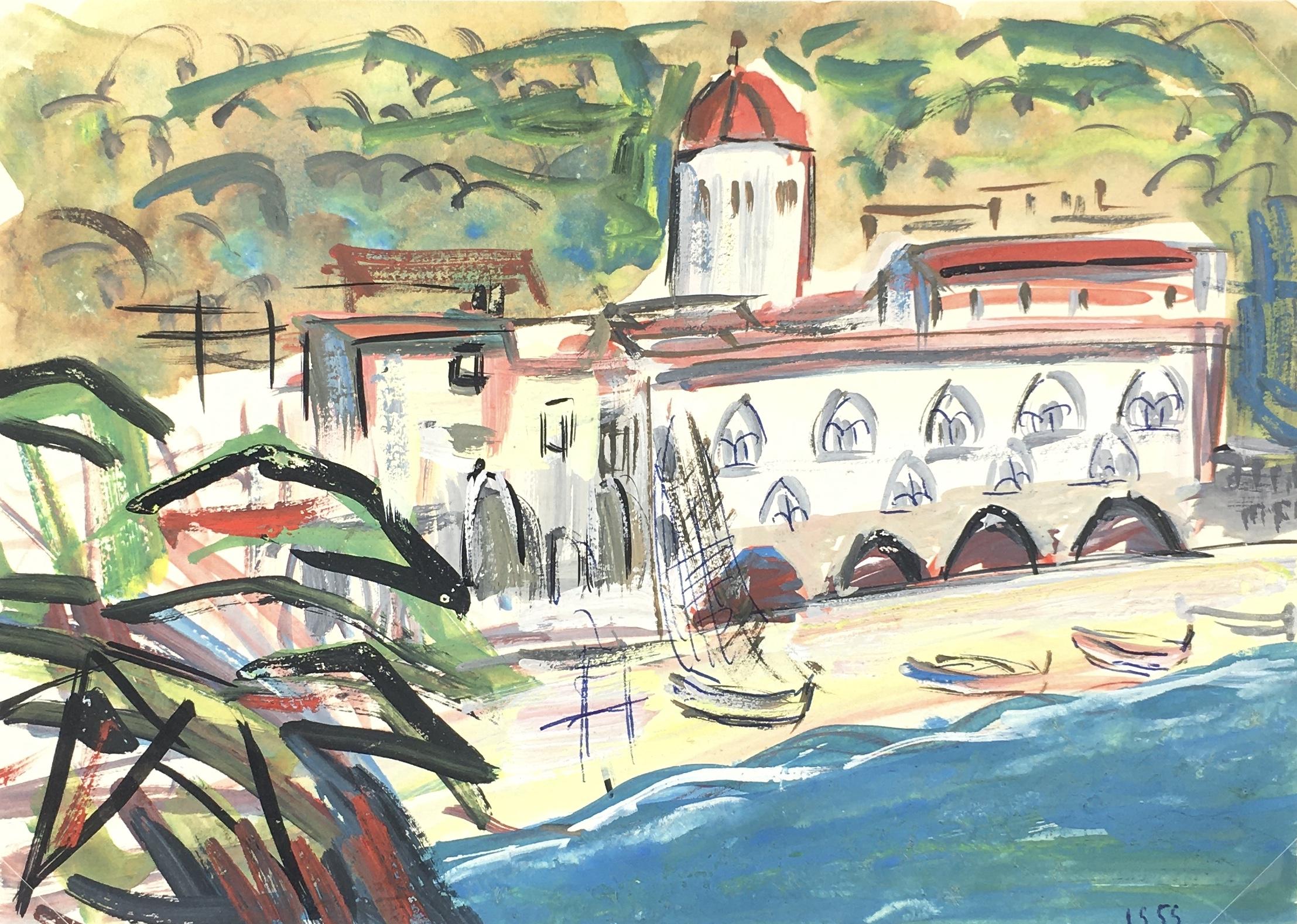 Beach Original Art - Mediterranean, 1959