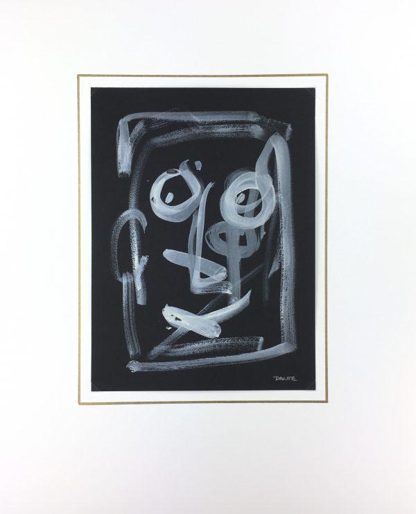Dante Modern Original Art - Noir et blanc, Dante, 2019