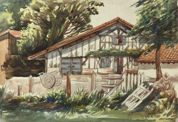 Country Landscapes Original Art - Country Cottage, C.1950