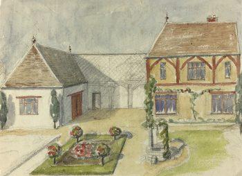 Country Landscapes Original Art - Country Garden, C.1930