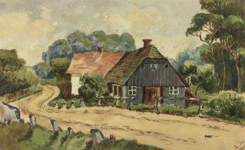 Country Landscapes Original Art - Country Cottage, L.M., 1910