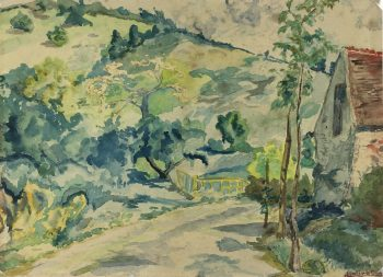 Country Landscapes Original Art - Country Impression, A. Lolivot, C.1930
