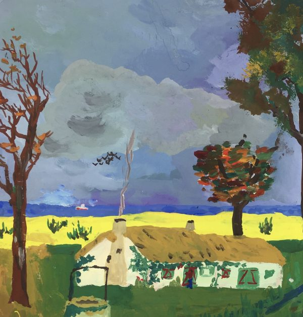 Country Landscapes Original Art - Autumn Landscape, C.1960