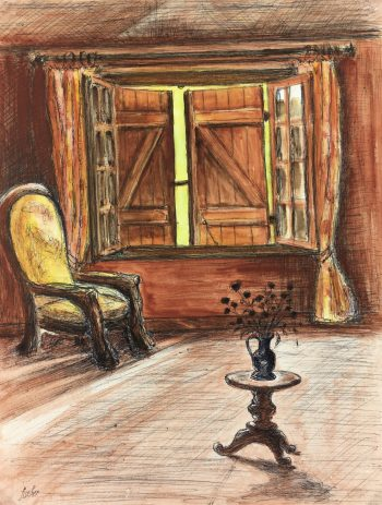 Country Landscapes Original Art - Country Home, Fischer, C.1960