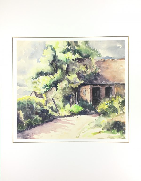 Country Landscapes Original Art - Country Home, M. Friedrid, C.1935