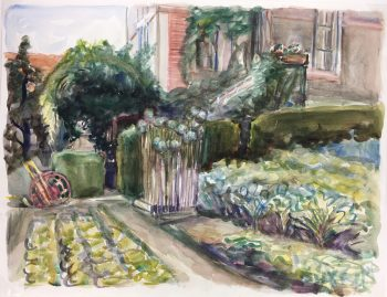 Country Landscapes Original Art - Country Garden, 1980s