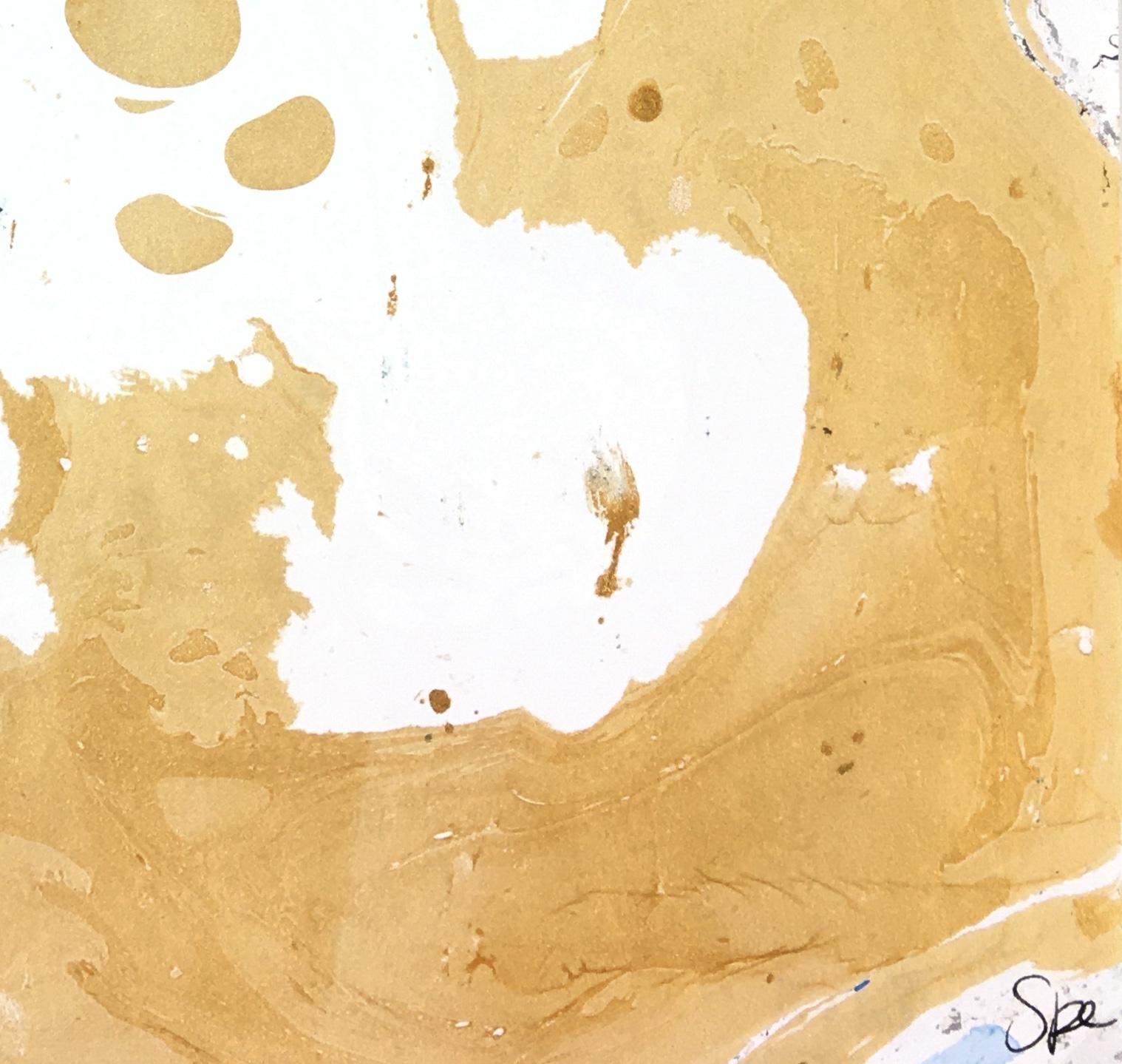 Modern Original Art - Black Gold Marble, Spe, 2018