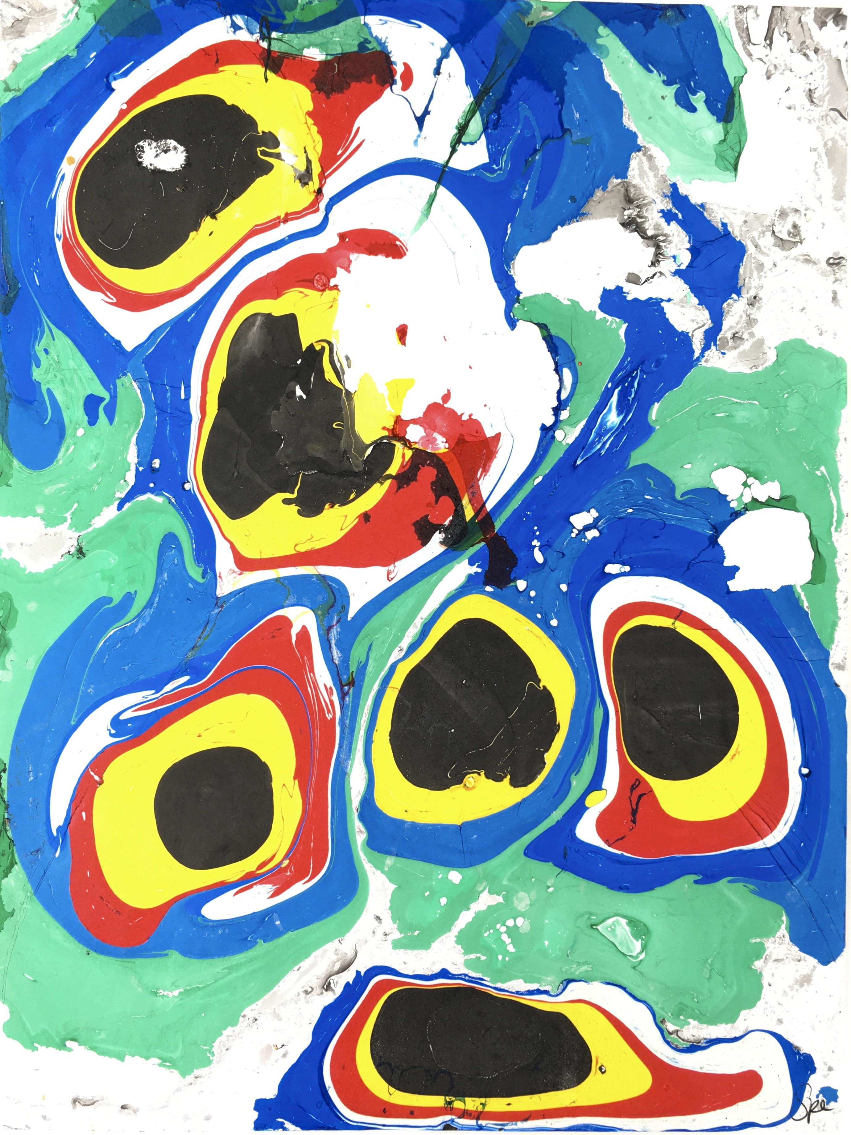 Modern Original Art - Color Marble, Spe, 2018