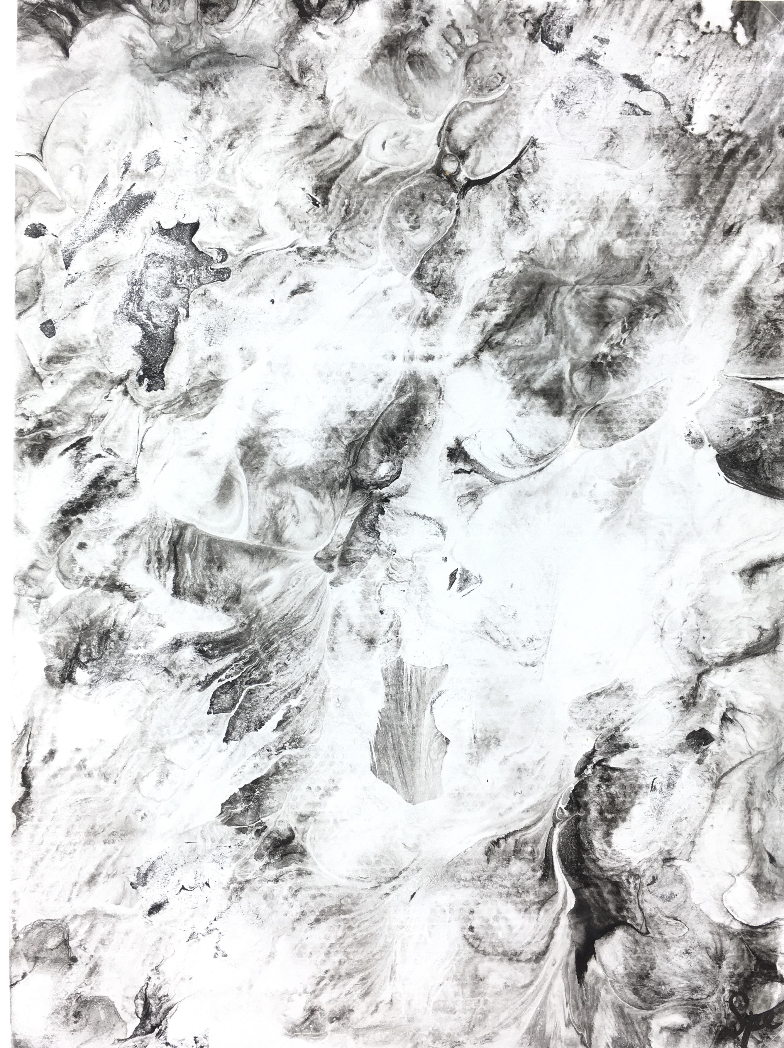 Modern Original Art - Suminagashi, Spe, 2018