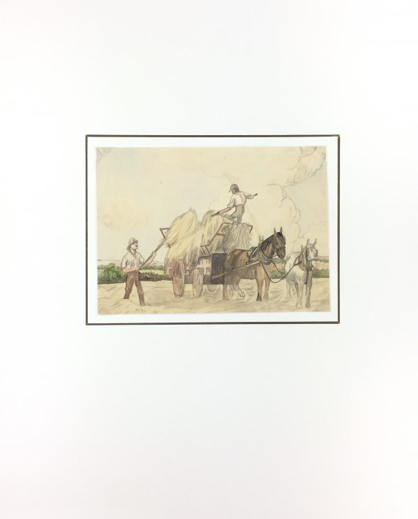 Farm Landscapes Original Art - Hay, C.1930