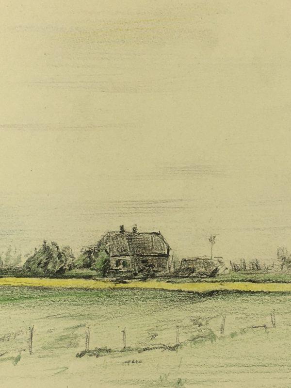 Farm Landscapes Original Art - Farm Horizon, C.1960