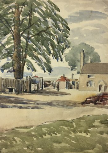 Farm Landscapes Original Art - Farm, W. Christall, C.1930