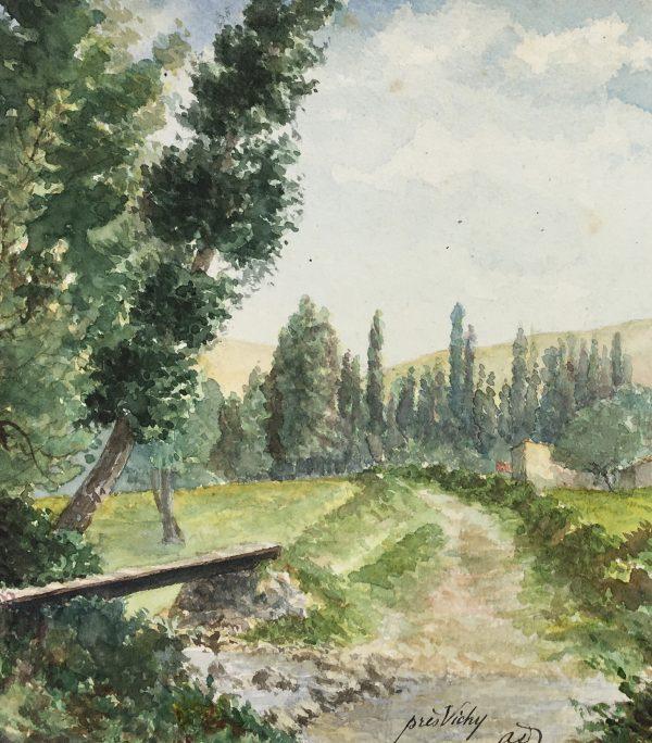 Farm Landscapes Original Art - Vichy France, C.1930