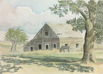 Farm Landscapes Original Art - Barn, Joan Powell, C.1990
