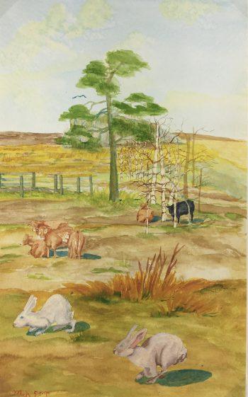 Farm Landscapes Original Art - Farm, Mich, 1994