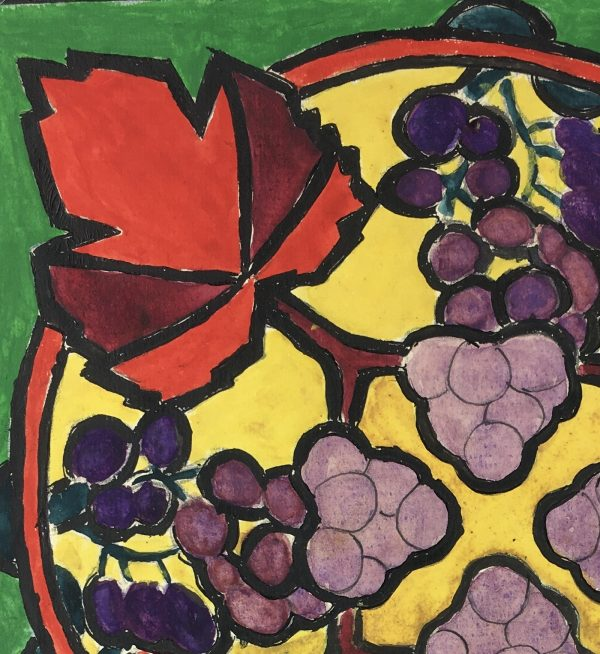 Farm Landscapes Original Art - Wine Grapes, Huguette Briet, 1930