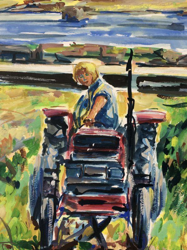 Farm Landscapes Original Art - Vineyard, AC, 2008