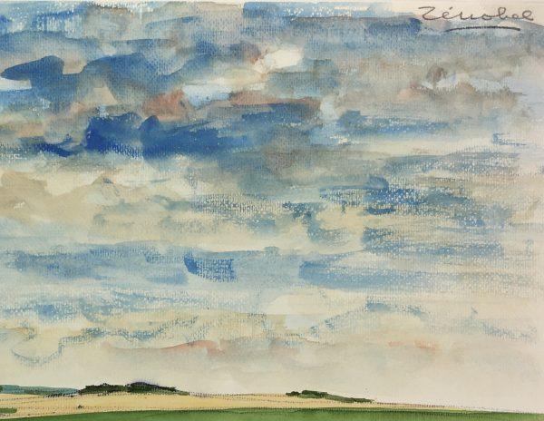 Farm Landscapes Original Art - St Ouen, Eure, C.1960