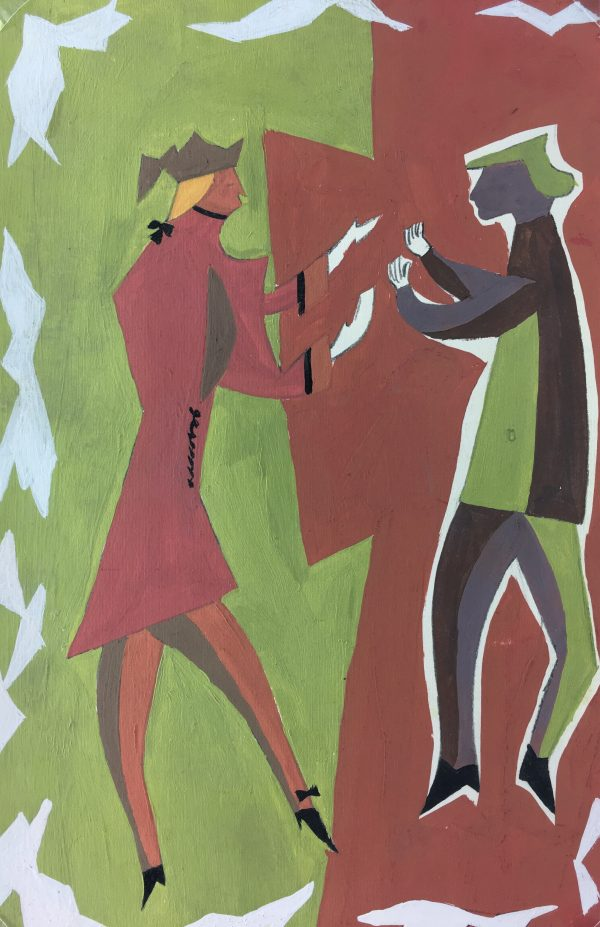 Figures Original Art - Dialouge, M.J. , C.1960